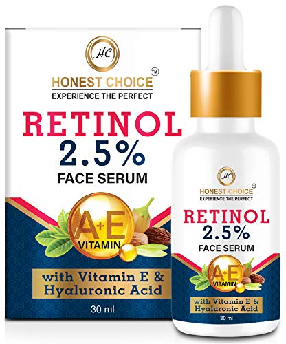 HONEST CHOICE Retinol Serum for face Blended With Vitamin C And Vitamin E, Glycolic Acid | Anti Aging Serum | Sun Protection | face serum for glowing skin 30 ml