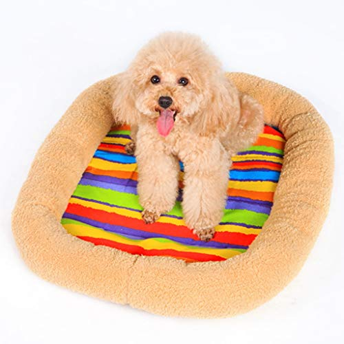 Pet Supplies Lijianfeng Stuoia del Cane Tovagliolo per Gatti Materasso per Gatti Materasso per Cani Teddy Bear Xiong Chihuahua Deer Dog Kennel Winter (Color : XS)