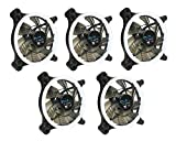 APEVIA 512L-CWH 120mm Silent Dual Rings White LED Fan with 32 x LEDs & 8 x Anti-Vibration Rubber Pads (5 Pk)