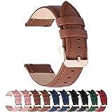Fullmosa Colores para Correa de Reloj, Cross Piel Correa Hua