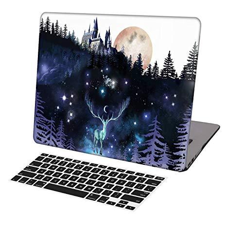 KSK KAISHEK Laptophülle für ältere MacBook Air 33 cm (13 Zoll), ohne Touch-Bar, Modell A1369/A1466, Kunststoff, ultradünn, leicht, Hartschale, Harry Potter Hogwarts