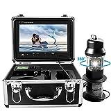 Caméra vidéo de pêche sous-marine, caméra vidéo de recherche de poisson, rotation à 360 ° avec enregistreur DVR, étanche IP68 et moniteur couleur 9' 1000HD TVL avec câble 30 m (carte TF 8 Go incluse)
