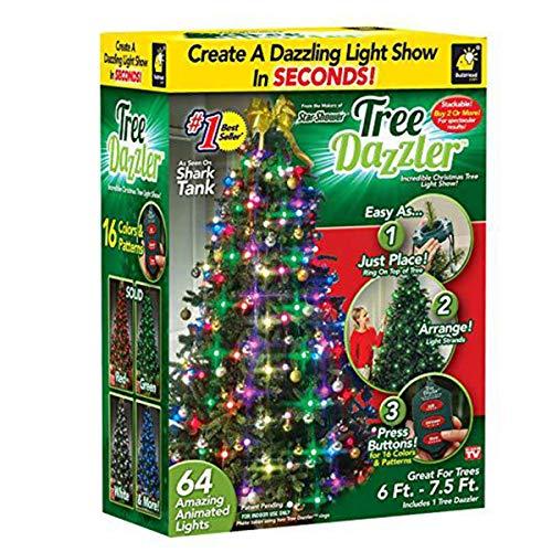 Star Shower Tree Dazzler LED Weihnachtsbeleuchtung von BulbHead, Farbwechsel LED-Licht für den Weihnachtsbaum, 64 Globe Lights (Europäische Vorschriften)