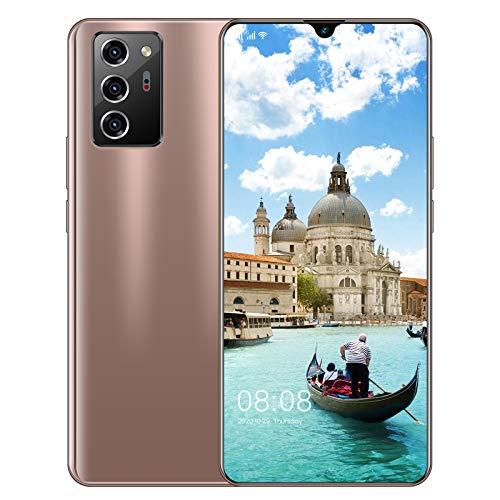 Teléfonos Móviles Sim Free Desbloqueado, Note20 Pro Android 10.0 Smartphone, 7.1 Pulgadas HD Water Drop Display, 13 + 24MP Cámaras + 5600mAh Batería, Face ID