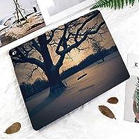 IPad 2 3 4ケース レザー 軽量 薄型 2つ折スタンド マグネット 磁気吸着 オートスリープ/ウェイク機能ケ 全面保護カバー アップルiPad 2/3/4 対応ipad3 ケース 装飾的なスイングノスタルジックな劇的な冬景色の庭の雄大な木