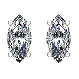 Zoom IMG-2 orecchini a bottone con diamanti