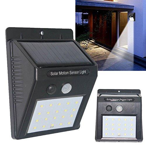 Detector de presencia. Lámpara Solar, 12 Led, con Sensor de Movimiento. (1 Unidad)