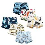 Boys Boxer Briefs Toddler Boy Underwear Training Shorts Cotton 2T 3T 4T Dinosaur Shark Baby for Kids Boy (F-6 packs, 5_years)