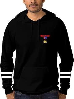 PATPATP Happy USA Veterans Day Printed Hooded Pocket Drawstring Hoodie