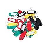 Sonline 30 ¡Á etiquettes colorees de porte-cles/en plastique/avec la carte de nom, ideal pour les utilisations...