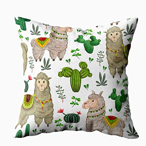 Gypsophila Kids Pillowcase Decoration, Outdoor Pillow Cases Watercolor Pattern Colorful Parrots Tropical Leaves Exotic Print Cool Decorative Pillow Covers 18X18Inch for Sofa Home