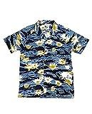 OTTE Gear Aloha Now Tiger Stripe Blue Hawaii Camisa para hombre Blue Hawaii. M
