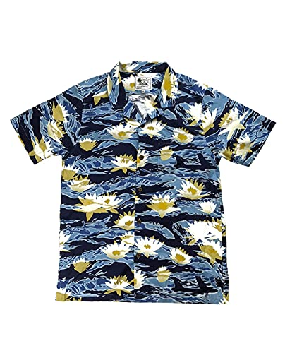 OTTE Gear Aloha Now Tiger Stripe Blue Hawaii Camisa para hombre Blue Hawaii. XL