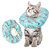 Veraing Schutzkragen für Katze, Einstellbarer Katze Wiederherstellung Halsband Safety Soft Anti Biss Rutschfester Baumwollring Protective Weiches Halsband für Katze und Hund(Klein)