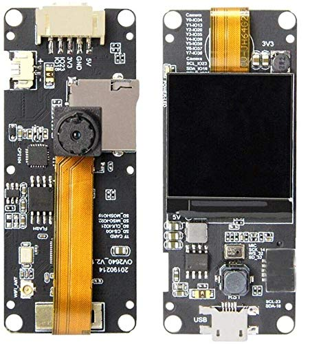 Amazon.es - T-Camera Plus ESP32-DOWDQ6 8MB SPRAM Camera Module OV2640 1.3 Inch Display