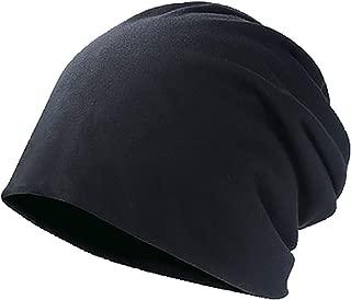 LBLMS Hat Men's Tide Autumn and Winter Thin Section Baotou Hat Women's Headgear Summer Cotton Cap Month Hat Caps Headscarf Pile of Hats (Color : Black)