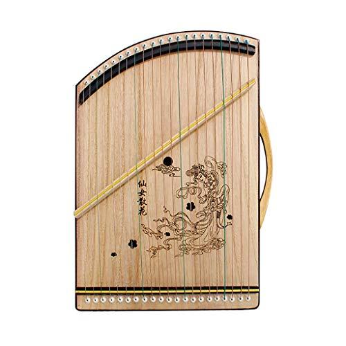 N /A Guzheng, Guzheng Finger Exerciser, Musikinstrumente, Guzheng Finger Trainer, 50cm x 30cm, 21 Streicher, 14 Streicher, bewegliche kleine Guzheng, komplett mit allem Zubehör.
