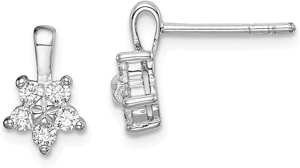 925 Sterling Silver Cubic Zirconia Cz Virginia Beach Mall Earrings Stud Star Our shop OFFers the best service Ba Post