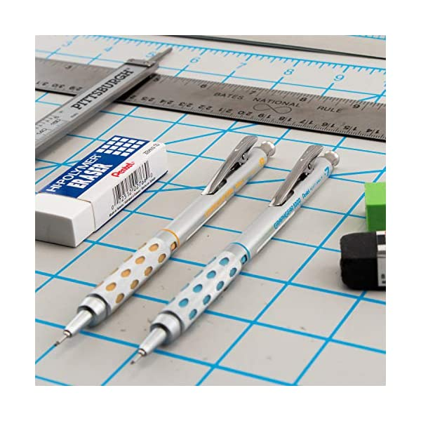 GraphGear 1000 Premium Mechanical Pencil Set : Set of 4 GraphGear 1000 Premium Mechanical Pencils by Pentel Includes sizes 0.3mm / 0.5mm / 0.7mm / 0.9mm GraphGear are superior drafting pencils with excellent features