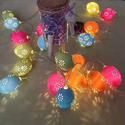 Guirnalda de luces de huevo de Pascua, Luz de huevo de Pascua Luz de hadas Patio de vacaciones de Pascua Jardín de césped Fiesta al aire libre Decoración de boda Luz LED con pilas ((3M / 20 luces)