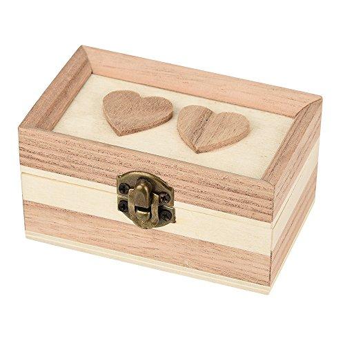 ZOUMOOL Diseño simple de lujo con cajón 2 tamaño vintage amor espejo con cerradura caja de almacenamiento titular caja de almacenamiento pirata joyería regalo