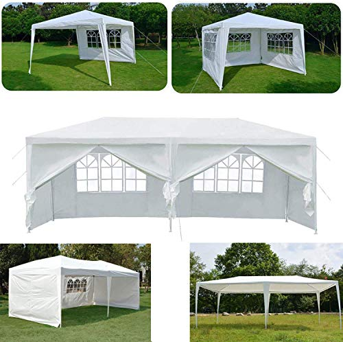 3x3m 3x4m 3x6m Party Gazebo Tent Marquee Awning Canopy For Outdoor Wedding Garden with Side Panels, Fully Waterproof,3mx6m 6 Side Panels A Type ZHANGKANG (Color : 3mx6m 6 Side Panels a Type)