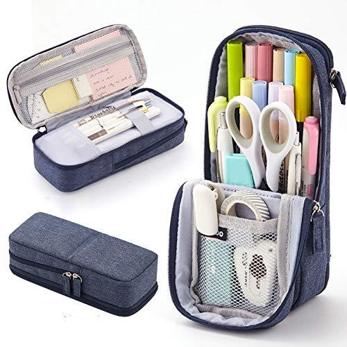 Estuche para lápices de gran capacidad, estuche para lápices, bolsa de almacenamiento para niños, niñas, estudiantes, para material escolar y de oficina