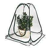 QILIN Mini Invernadero De Jardín, Paquete De 2 Invernaderos De PVC Plegables Portátiles, con Clavijas De Tierra, Pequeño Invernadero para Plantas Y Flores (27'x 27' X 31')
