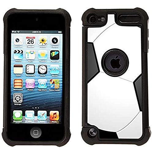 Corpcase - Hybrid Case for iPod Touch 6 / iPod Touch 5  - Soccer / Unique Case With Great Protection
