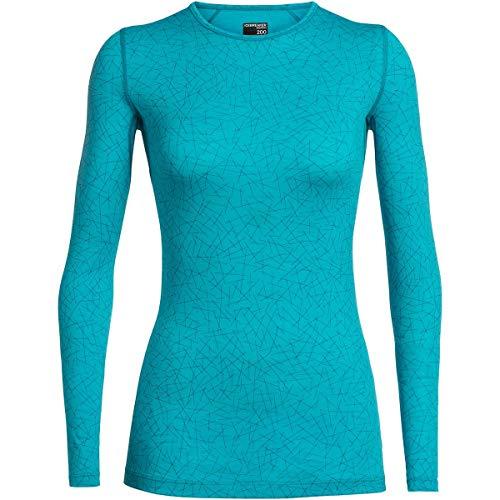 Icebreaker Damen 200 Oasis Sky Longsleeve Langarm Unterhemd Funktionsunterhemd