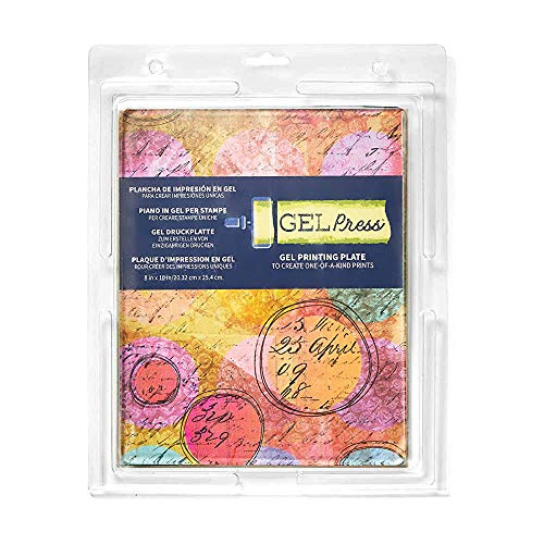 Gel Press 10802 Silikon Stempel Druckplatte, 20 x 25 cm