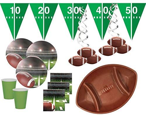 XXL 52 Teile American Football Superbowl Party Deko Set für 16 Personen