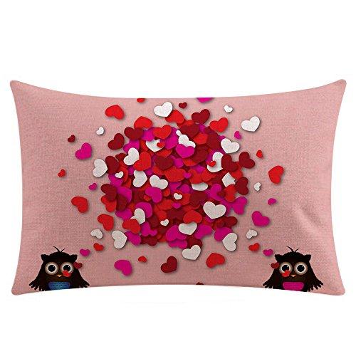 LANSKIRT_ Fundas de Cojin 30x50 CM,Fundas de Almohada de Tiro de Moda para Pareja Funda de cojín para sofá Decoración con Estampadas patrón - 12 Colores