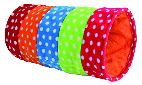 Trixie 4291 Spieltunnel, Fleece, ø 25 × 50 cm, bunt