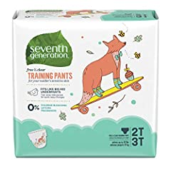 Training pants made for toddler's sensitive skin, great for boys or girls Absorbent core ready for life's surprises Contains 0% chlorine bleaching*, lotions, or fragrances Fits like big kid underpants – easy to tell front from back and tear away side...