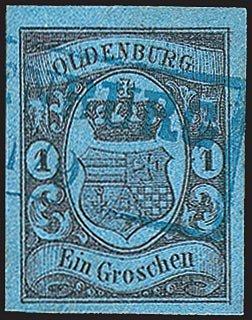 Goldhahn Oldenburg Nr. 6 gestempelt Briefmarken für Sammler
