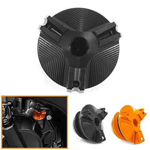 Heinmo Tapón de la Tapa del Tanque del Filtro de llenado de Combustible del Aceite del Motor de la Motocicleta para KT M 790ADV 790 Adventure/R 2019 2020 (Black)