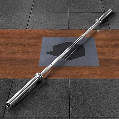 METIS Barra de Musculación Olímpica de 15 kg – Pesa de musculación con o sin discos | Gana musculo | Barra Cromada para Pesas (Sin Discos)