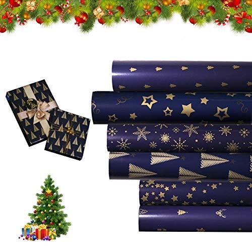Carta Regalo,Carta di Natale,Carta da regalo natalizia,Carta da regalo di Natale,Rotolo Carta Regalo ,Rotolo regalo,Carta da regalo di Babbo Natale,Carta da regalo natalizia,Carta imballaggio (stella)