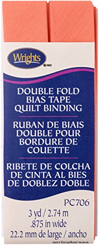 Wrights Coral Double Fold Quilt Binding 7/8
