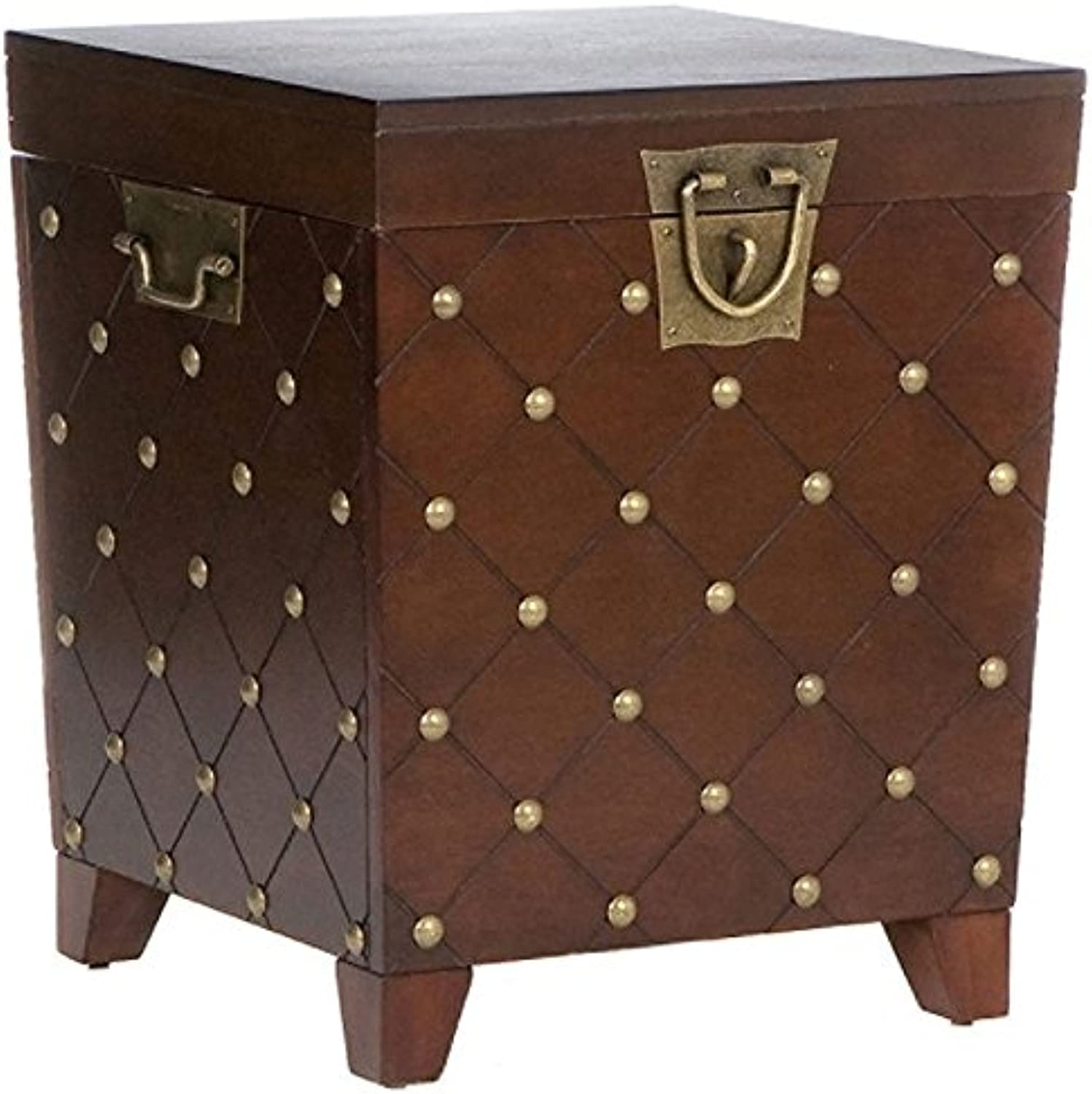 Southern Enterprises Espresso Nailhead End Table Trunk