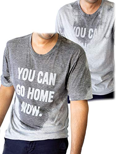 LeRage You Can Go Home Now - Camiseta de Regalo con Mensaje Oculto para Gimnasio o Divertida Camiseta de Regalo de Entrenamiento - Gris - XXX-Large