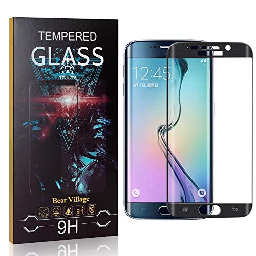 Bear Village Displayschutzfolie für Galaxy S6 Edge, 9H Härte Displayschutz, Kratzfest Schutzfilm aus Gehärtetem Glas für Samsung Galaxy S6 Edge, 99% Transparenz, 4 Stück