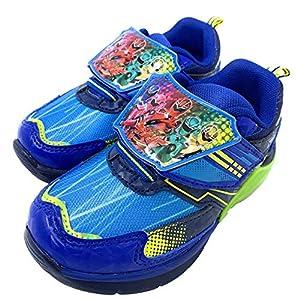 魔進戦隊 キラメイジャー 5504 光る靴 フラッシュ 子供靴 スニーカー キッズ シューズ 靴 男の子 キャラクター ブルー18.0cm