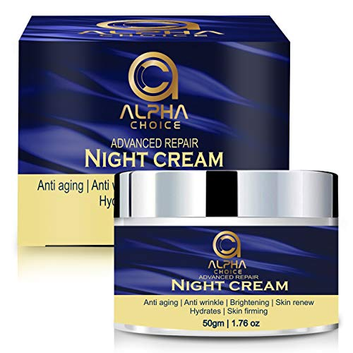 ALPHA CHOICE Night Cream for women and men, Anti aging face Cream, Wrinkle dark spot reduction blemishes removal skin whitening-50 gm