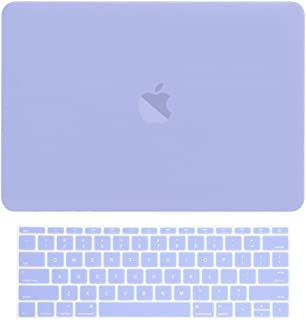 """TOP CASE MacBook Pro 13 inch Case 2019 2018 2017 2016 Release Model: A1708 Without Touch Bar, 2 in 1 Signature Bundle Rubberized Hard Case + Keyboard Cover Compatible MacBook Pro 13"""", Serenity Blue"""