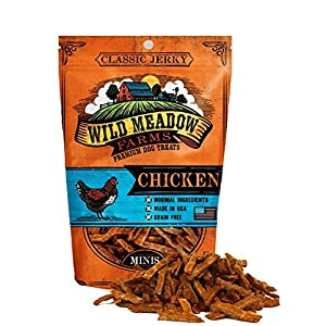 Wild Meadow Farms – Classic Chicken Minis – USA Made Soft Jerky Training Treats for Dogs