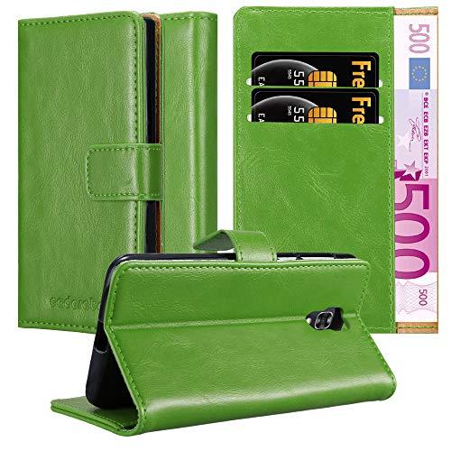 Cadorabo Custodia Libro per LG X Screen in Verde Erbe - con Vani di Carte, Funzione Stand e Chiusura Magnetica - Portafoglio Cover Case Wallet Book Etui Protezione