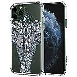 MOSNOVO Henna - Carcasa para iPhone 11 Pro, diseño de elefante tribal