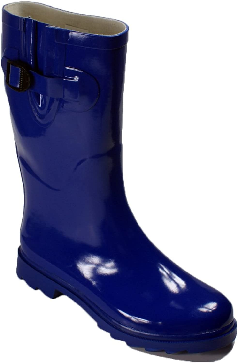 7color Womens Rain Boots Size Wellies Flat Wellington Knee High Festival Welly Snow